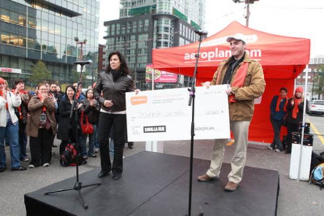 Aeroplan and its employees raised $66,000 for Dans la rue. (CNW Group/AEROPLAN CANADA INC.)