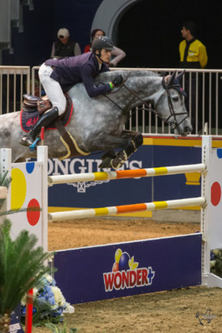 Belgium''s Nicola Philippaerts claimed victory riding H&M Harley vd Bisschop in the $50,000 Weston Canadian Open held Friday night, November 13, at the Royal Horse Show®. (CNW Group/Royal Agricultural Winter Fair)