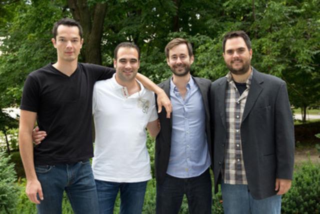 De gauche à droite : Simon Turcotte, Lauris Bonnet, Jean-Michel Beaudoin et Daniel Tardif. (Groupe CNW/HEC Montréal)