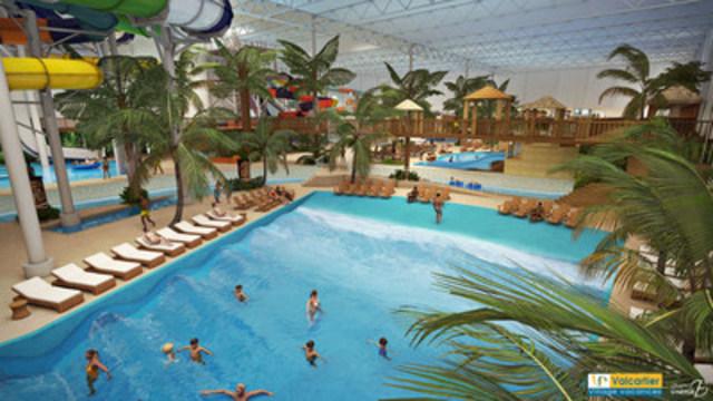 Valcartier Vacation Village's indoor waterpark wave pool. (CNW Group/Valcartier Vacation Village)