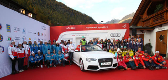 Audi active in winter sports (CNW Group/Audi Canada Inc.)