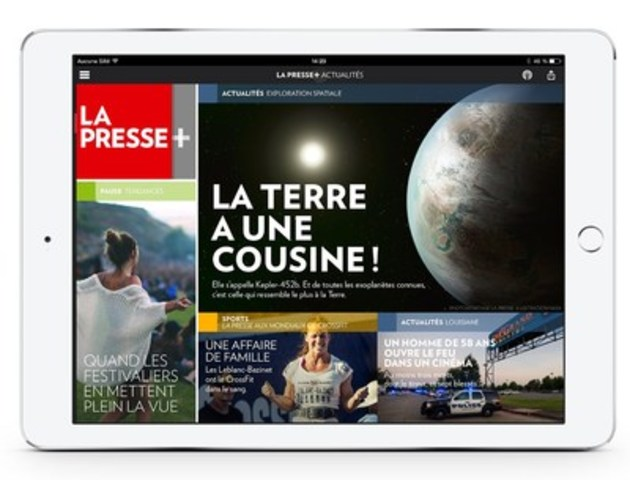 La Presse+ (Groupe CNW/La Presse)