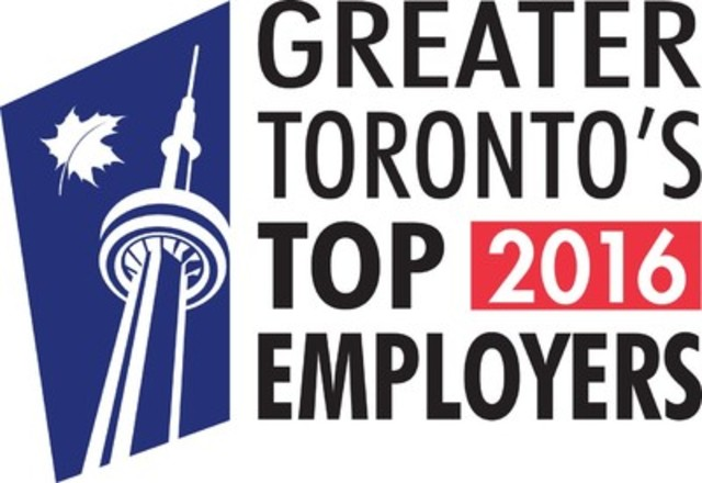 Greater Toronto's Top Employers 2016 (CNW Group/Mediacorp Canada Inc.)