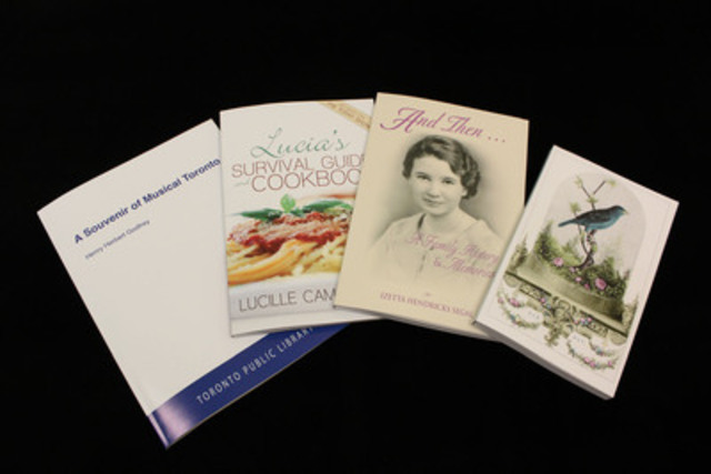 A selection of books printed at Asquith Press at Toronto Reference Library (CNW Group/Toronto Public Library)
