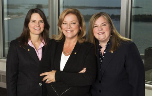 Félicitations à Sandy Sharman (au centre), vice-présidente à la direction et chef des Ressources humaines, qui se joint à la liste croissante d'employées de la Banque CIBC à être reconnues parmi les femmes les plus influentes au Canada par WXN. (Groupe CNW/Banque CIBC)
