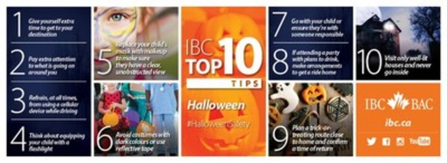 IBC Top 10: Tips for a fun and safe Halloween (CNW Group/Insurance Bureau of Canada)