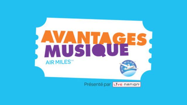 Avantages musique AIR MILES(md) fera le bonheur des mélomanes canadiens  (Groupe CNW/Programme de récompense AIR MILES)