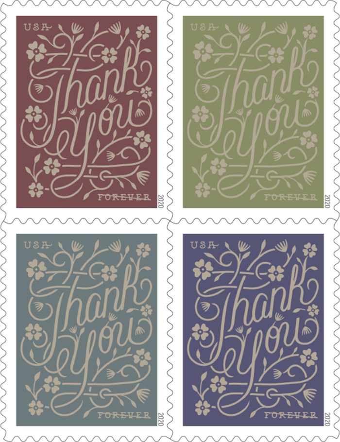 It is always the right time to express gratitude. Thank You Forever stamps are the perfect finishing touch when mailing cards, letters or notes of appreciation for any occasion.