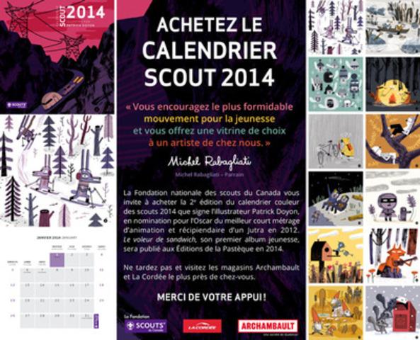 Offrez le calendrier scout pour Noël! (Groupe CNW/Association des Scouts du Canada)