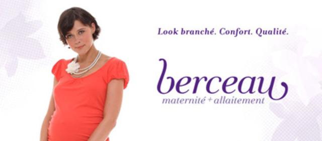 Berceau.ca offre aujourd'hui une solution sécuritaire et de confiance pour les futures mamans de tout le Québec afin qu'elles puissent se procurer facilement leurs vêtements adaptés pour la grossesse et l'allaitement (Groupe CNW/Berceau Maternité)