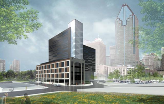 Centre de données de Montréal, 544, rue de l'Inspecteur, un partenariat Fonds immobilier de solidarité FTQ et Urbacon (Groupe CNW/Fonds immobilier de solidarité FTQ)