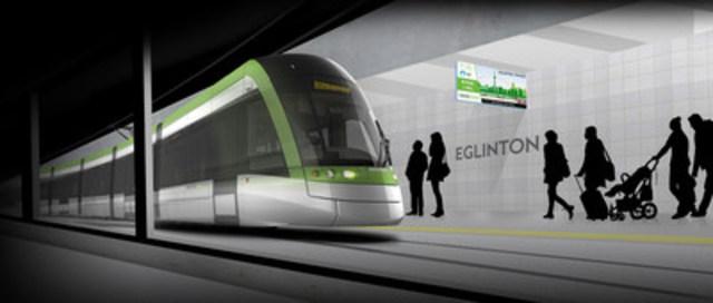 Le système de transport léger sur rail Eglinton Crosstown (Groupe CNW/Conseil canadien pour les partenariats public-privé)