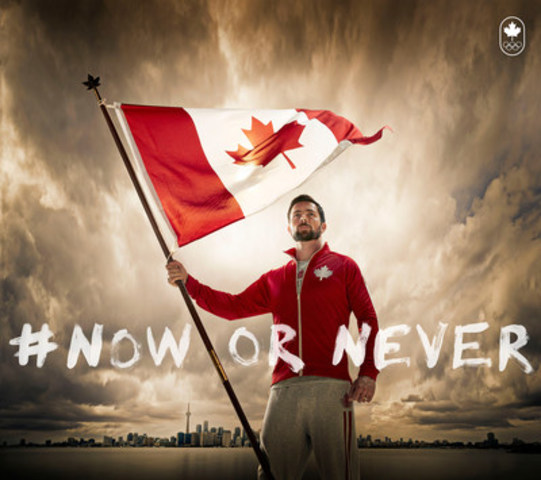 Mark Oldershaw, Team Canada Flag Bearer (CNW Group/Canadian Olympic Committee)
