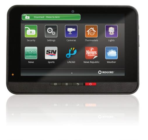 Contrôler à distance votre thermostat et éclairage ne sont que quelques-uns des avantages du Système de domotique de Rogers - maintenant disponible auprès des résidents de la région du Golden Horseshoe, en Ontario. Ces clients peuvent désormais facilement accéder, en temps réel, à la sécurité de leur domicile, caméras et électroménagers à l'aide d'un pavé tactile ou, à distance, à l'aide des applications Système de domotique de Rogers à partir d'un téléphone intelligent, ordinateur ou d'une tablette. (Groupe CNW/Rogers Communications Inc. - Français)