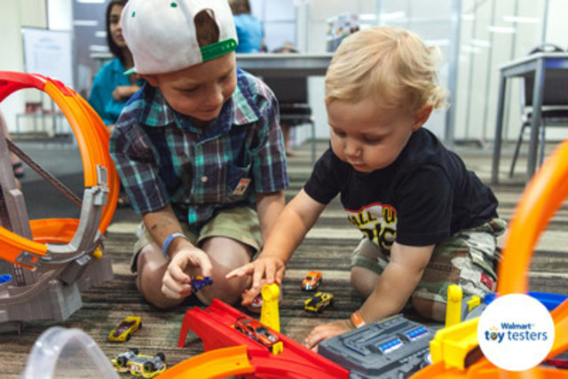 Walmart Canada announces its kid-tested and parent-approved holiday 2015 Top 20 Toys list selected at its annual Toy Tester event. (CNW Group/Walmart Canada)