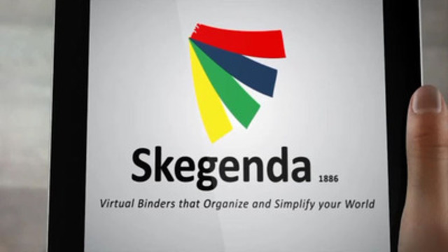 Skegenda for iPads, Virtual Binders that organize and simplify your world