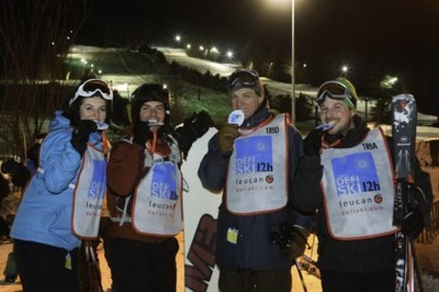 Leucan 12-Hour Ski Challenge Participants. (CNW Group/Leucan)