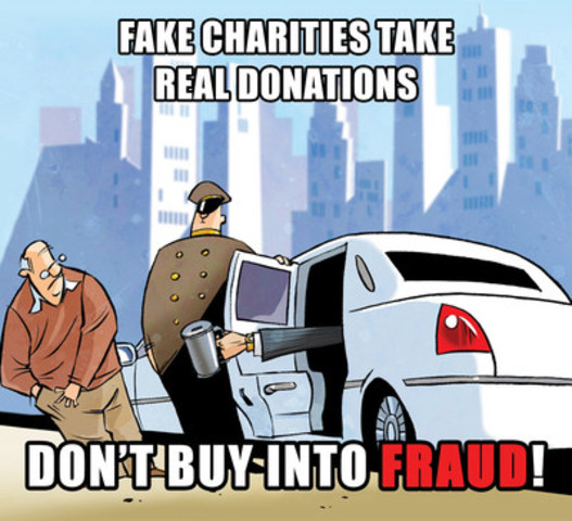Fake charities take real donations - Don't buy into fraud! (CNW Group/Competition Bureau)