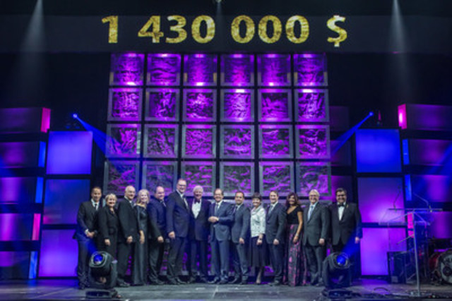 Bal des lumières raised $1,430,000 for three Montréal mental health foundations. (CNW Group/Bell ...