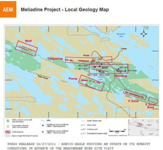 Meliadine Local Geology Map (CNW Group/Agnico-Eagle Mines Limited)