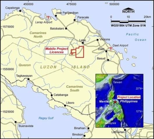 Figure 3. Mabilo Deposit – Location Plan  (CNW Group/RTG Mining Inc.)