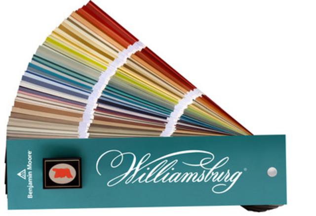 Benjamin Moore collabore avec la Colonial Williamsburg Foundation pour le lancement de la collection de couleurs WILLIAMSBURG(MD) de Benjamin Moore qui met en valeur une palette de 144 couleurs (Groupe CNW/Benjamin Moore)