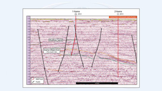 Figure 2: Ioana Seismic Section (CNW Group/Sterling Resources Ltd.)