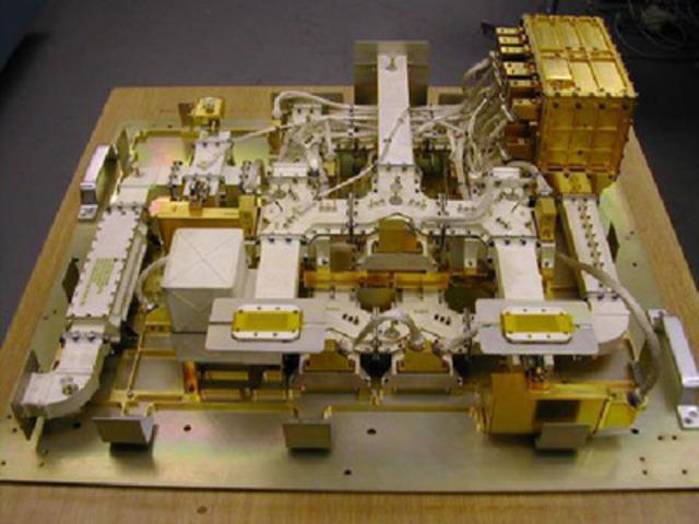 The ASCAT Scatterometer Front End - designed and built in Buckinghamshire (CNW Group/Com Dev International Ltd.)