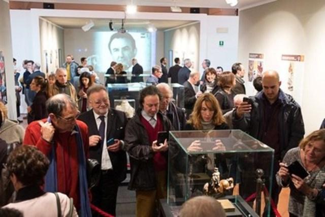 Soiree d'ouverture de l'exposition de la sculpture Le Cheval de Léonard : 24 novembre 2016. Milan, en Italie. (Groupe CNW/Da Vinci Horse and Rider)