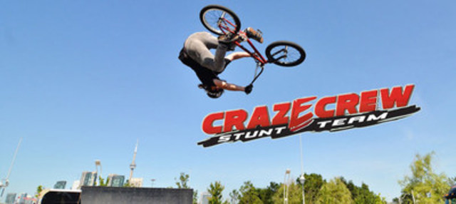 The Craz-E-Crew stunt team will showcase their awe-inspiring stunts (CNW Group/Canada's Wonderland Company)
