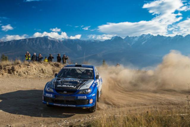 Subaru Rally Team Canada at Rocky Mountain Rally. Photo credit: Aaron Kathman. (CNW Group/Subaru Canada Inc.)
