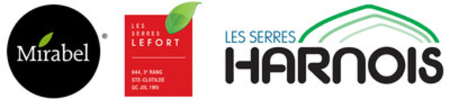 Hydroserre Mirabel; Les Serres Lefort; Les Serres Harnois (Groupe CNW/Agro Québec)