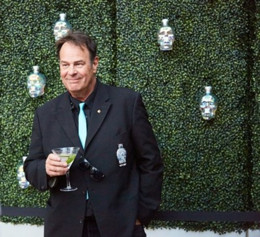 Dan Aykroyd launches Crystal Head AURORA in Toronto on Tuesday night. (CNW Group/Crystal Head Vodka)