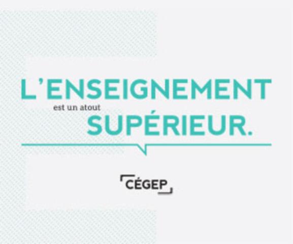 Un des quatre messages principaux de la campagne CÉGEP (Groupe CNW/Fédération des cégeps)