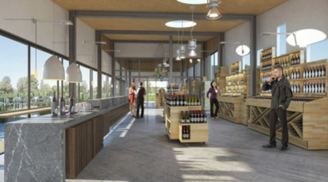 Interior rendering of the new retail tasting facility at Diamond Estates (CNW Group/Diamond Estates Wines & Spirits Inc.)