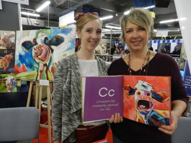 Julia Veenstra (right) and Rachel Cuthill (CNW Group/Royal Agricultural Winter Fair)