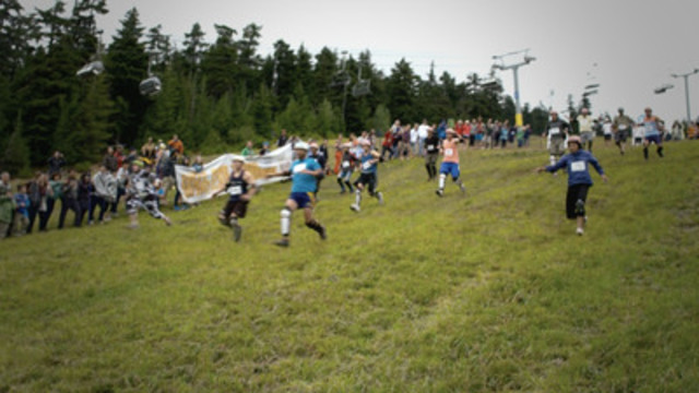 Video: Thousands of cheese lovers gathered together in Whistler, British Columbia, for the sixth Canadian Cheese Rolling Festival. The much anticipated festival featured cheese rolling races, a costume contest and other fun activities for the whole family. www.CanadianCheeseRolling.ca