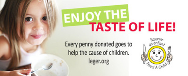 Hungry for solutions - LÉGER FOUNDATION launches 15th Feed a Child campaign Quebec-wide (CNW Group/L'OEUVRE LEGER)