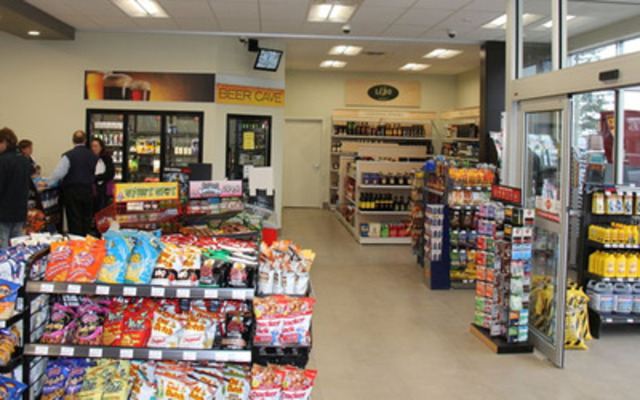 Inside of the Mac's Convenience store in Thamesford, Ontario which sells beer, wine and spirits. Mac's is one of the 200 responsible community convenience store retailers already selling alcohol in Ontario. (CNW Group/Ontario Convenience Stores Association)