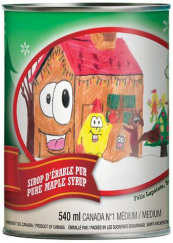 À l'achat d'une conserve de Noël chez IGA et IGA extra, 1 $ sera remis par la FPAQ à la Fondation CHU Sainte-Justine, jusqu'à un don maximal de 25 000 $. (Groupe CNW/FEDERATION DES PRODUCTEURS ACERICOLES DU QUEBEC)