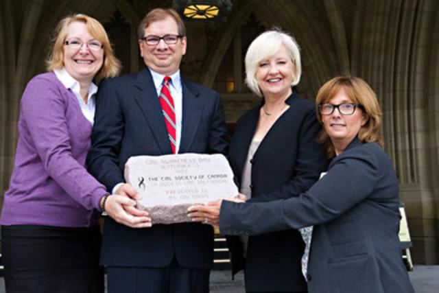 CML Awareness Day and Joy Smith, MP. (CNW Group/Novartis Pharmaceuticals Canada Inc.)