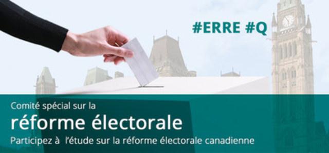 Comité spécial sur la réforme électorale (Groupe CNW/Chambre des communes - Comité spécial sur la réforme électorale)
