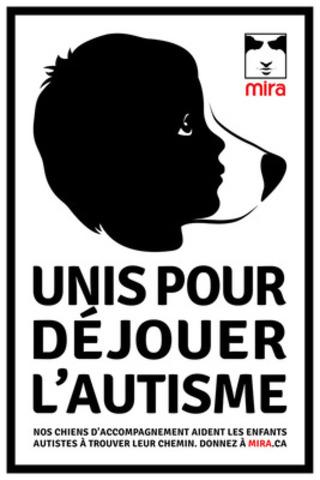 Unis pour déjouer l'autisme. (Groupe CNW/Fondation Mira)