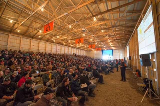 Huge crowds attended Ritchie Bros.' largest-ever on-the-farm auction, as the Company sold CA$24+ million of equipment and farmland (CNW Group/Ritchie Bros. Auctioneers)
