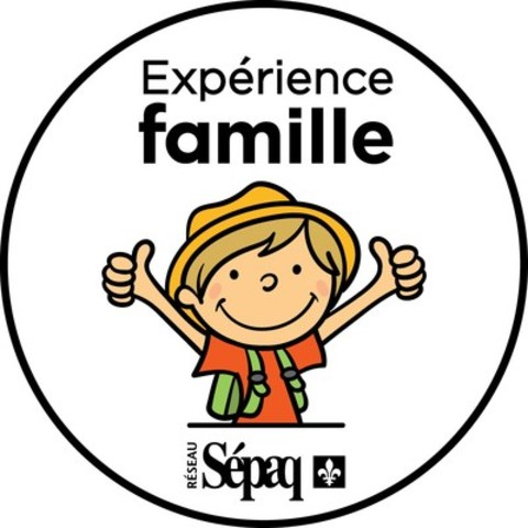 Logo : Sceau Expérience famille (Groupe CNW/Société des établissements de plein air du Québec)