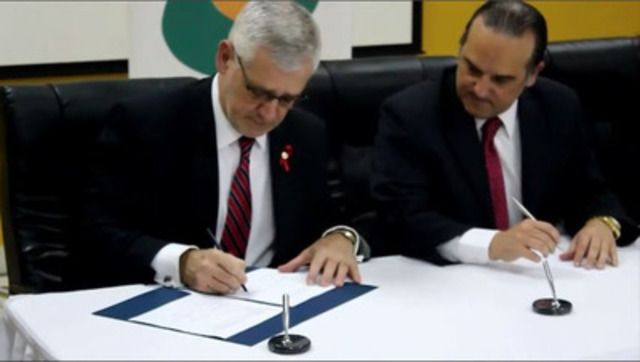 Video 1 Spanish: Panama and the BC Centre for Excellence in HIV/AIDS sign a memorandum of understanding (MOU) to partner in the global fight against HIV/AIDS through the implementation of the made-in-B.C. strategy.