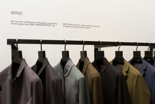 Detail shot of the Arc'teryx Veilance concept shop (CNW Group/Arc'teryx)