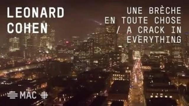 Le MAC illuminera le Silo No 5 à l'occasion du 375e anniversaire de Montréal et dans le cadre de son exposition Leonard Cohen – Une brèche en toute chose / A Crack in Everything. L'œuvre est une création de Jenny Holzer, intitulée For Leonard Cohen. Les images de la vidéo ont été produites grâce à la collaboration de CBC/Radio-Canada.
