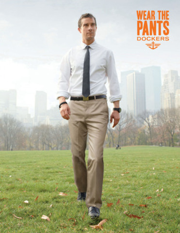 Bear Grylls Wears the Signature Khaki in the Dockers, 2012 Wear The Pants Ad Campaign (CNW Group/Dockers)