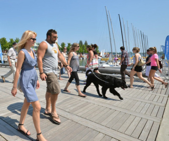 Each Wave Deck along the revitalized Queens Quay at the Redpath Waterfront Festival, June 19-21 provides different activities to get you involved Toronto's waterfront. Photo courtesy of Waterfront Toronto (CNW Group/Redpath Waterfront Festival)
